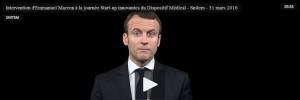 Emmanuel Macron s'engage auprès des start-up du DM